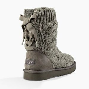 UGG Cable Knit Lace Up Boots